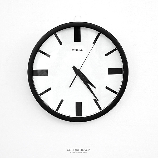 時鐘 SEIKO黑白配簡約掛鐘【NG46】原廠公司貨