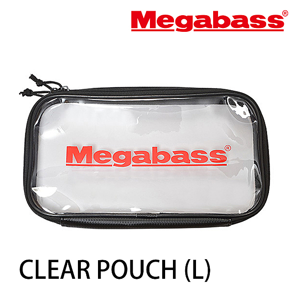 漁拓釣具 MEGABASS CLEAR POUCH #L [透明收納袋]