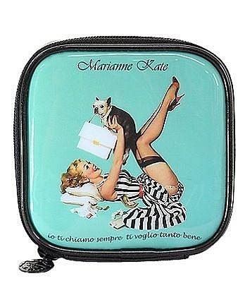 輕巧化妝包薄荷藍 正韓韓國Marianne Kate~華麗女孩系列1 零錢包《SV5686》快樂生活網