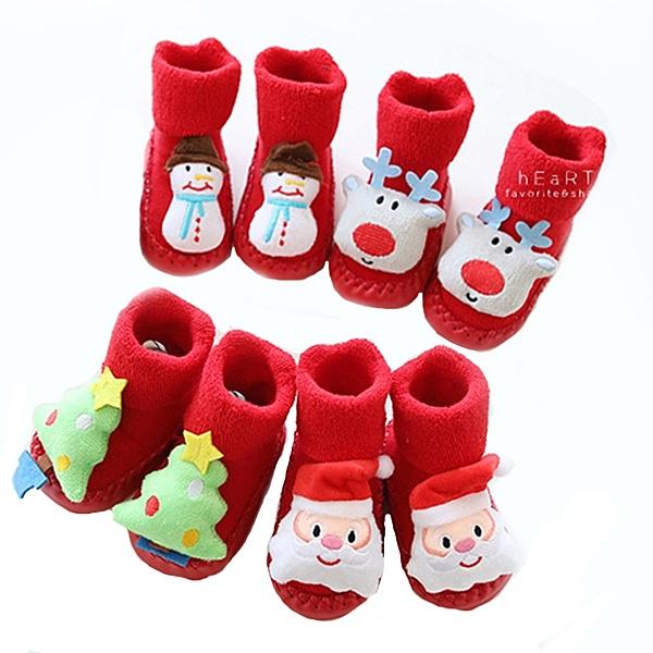 聖誕立體玩偶毛圈學步鞋 寶寶鞋 鞋子 童鞋