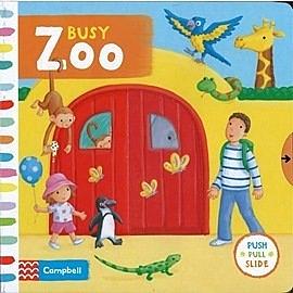 【幼兒操作拉拉書】BUSY ZOO /硬頁操作書