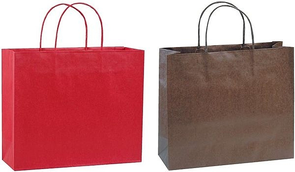 32x28x11cm紙袋300個‧反摺貼紙繩-【Fruit Shop】