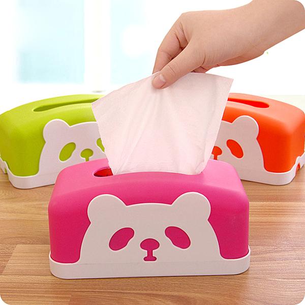 可愛動物卡通熊貓紙巾盒/創意個性時尚汽車面紙盒49元【省錢博士】