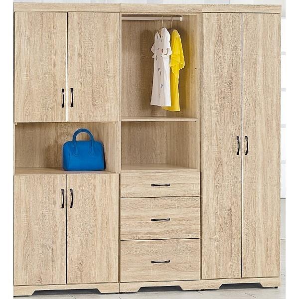 衣櫃 衣櫥 PK-165-3A 希蕾森6.5尺衣櫥【大眾家居舘】