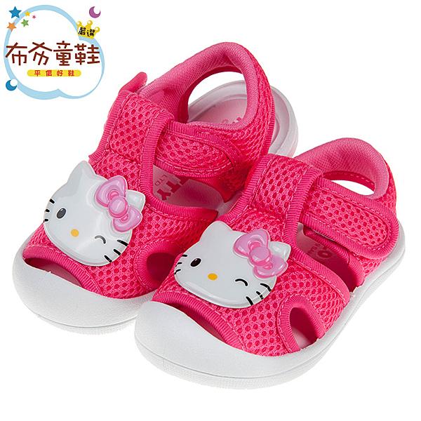 《布布童鞋》HelloKitty亮麗凱蒂貓桃色透氣寶寶涼鞋(13~16公分) [ C9C213H ]
