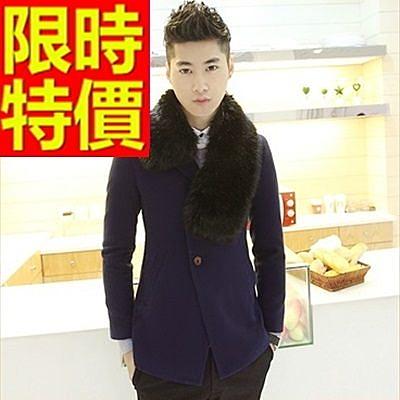 毛呢大衣-羊毛與眾不同短版防風男風衣外套2色62n60【巴黎精品】