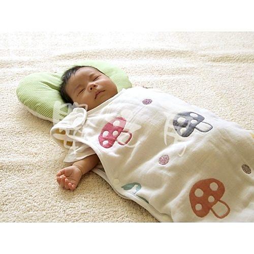 【嬰之房】日本Hoppetta 六層紗蘑菇防踢背心(嬰童)