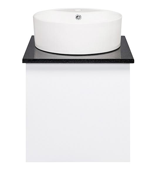 洗臉盆 檯上盆 台面盆 浴櫃+冷熱水龍頭+全部安裝配件 寬47x深47x高62cm PVC發泡板烤漆 防水耐用