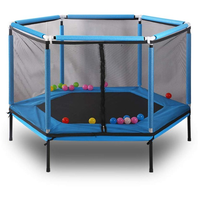 SUNHOO トランポリン 子供用 折りたたみ ベビーサークル ジョイントマット室内遊具 収納 持ち運び 耐荷重100kg 誕生日プレゼント