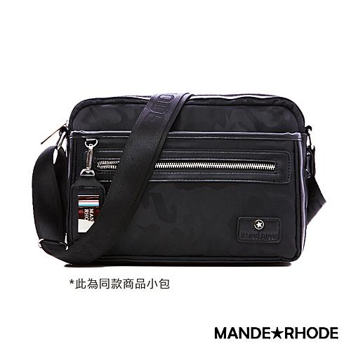 曼德羅德 MANDE RHODE 卡莫雷茲 美系潮男風格隨身斜背包 迷彩黑 P2019