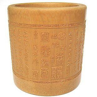 蘭亭序 天然竹子置物筒