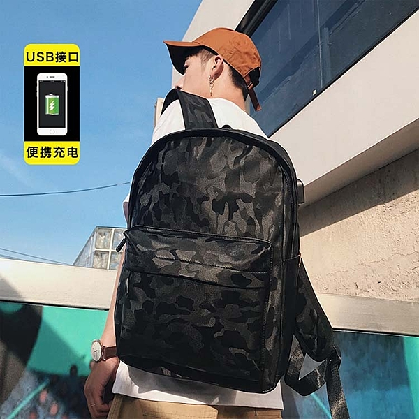 【5折超值價】經典潮流美式街頭迷彩百搭後背包