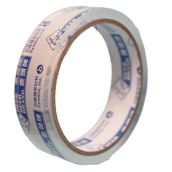 四維 鹿頭牌 OPP超透明膠帶 寬12mm/一支12捲入(定10) 12mmx40Y 封箱膠帶 封口膠帶 PPS7-PP3012C