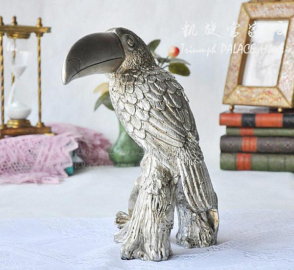 歐式復古樹脂工藝品長嘴鳥擺件