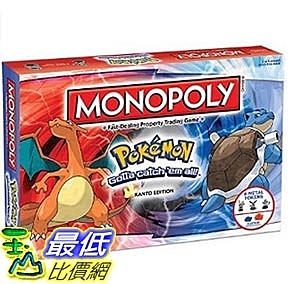 [美國直購] MONOPOLY: Pokemon Kanto Edition 卡片紙牌 大富翁 神奇寶貝 精靈寶可夢 關東版