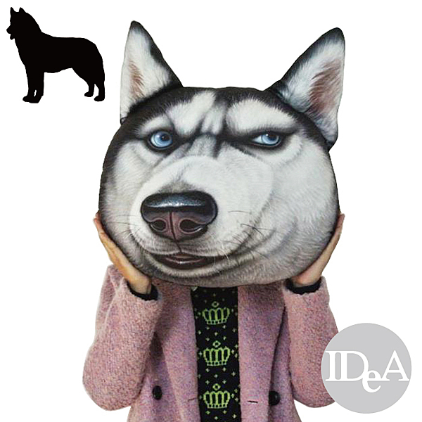 IDEA 現貨 神煩狗DOGE 3D抱枕 柴犬 哈士奇 創意新奇KUSO搞笑可拆洗靠墊 西伯利亞雪橇 日本秋田