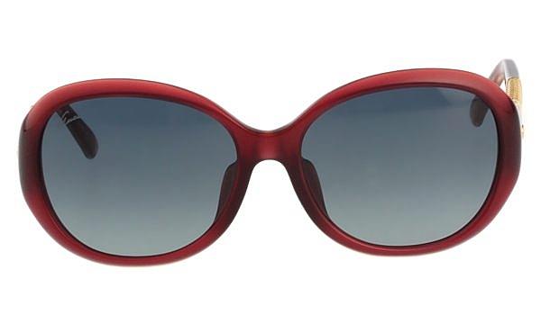 GUCCI 奢華鍍金款 太陽眼鏡  紅色