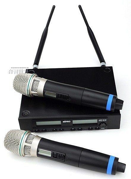 音響世界。新款MIPRO ACT-312B UHF雙軌32頻段自動接收雙手握無線麥克風。送Pro Co訊號線