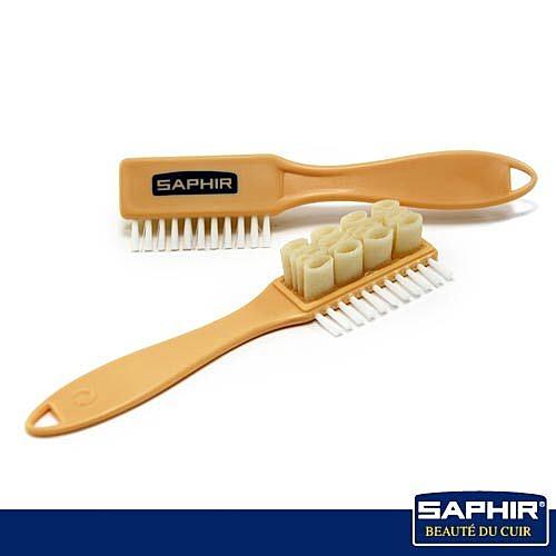 【SAPHIR莎菲爾】麂皮多功能刷-麂皮鞋除膠   橡膠鞋刷