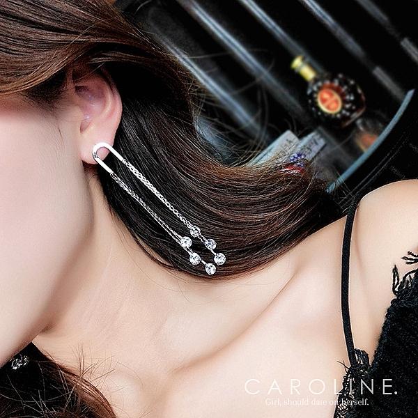 《Caroline》★韓國熱賣造型時尚 高貴典雅設計  絢麗閃亮動人耳環70463