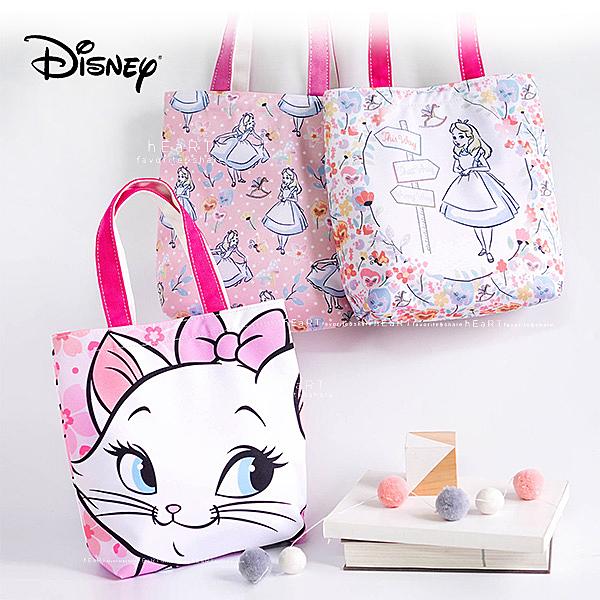 迪士尼手提便當包 愛麗絲/瑪麗貓 飯盒包 便當袋 手提袋 單肩包