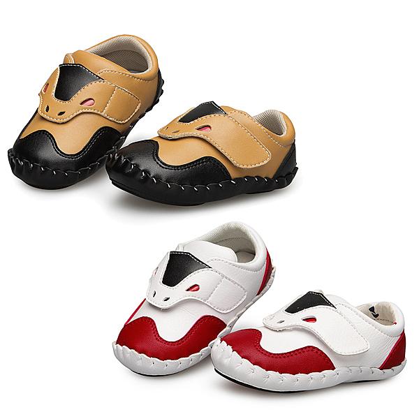 【Kidsfam】紅眼牛牛嬰兒幼童學步真小羊皮鞋-白色黃色2色兒童款