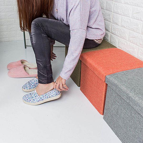收納凳 椅凳 收納椅 折疊收納箱-27L 儲物凳 腳凳 穿鞋椅【A034】旺寶百貨