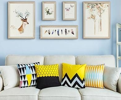 美式鄉村裝飾畫客廳沙發背景牆畫1聯畫臥室壁畫田園餐廳掛畫玄關1入-Fir