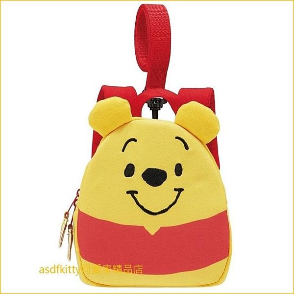 asdfkitty可愛家☆小熊維尼立體造型兒童防走失後背包-日本正版商品