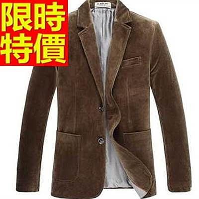 西裝外套  男韓版 西服 隨意亮麗-典型金絲絨精緻簡單65b34[巴黎精品]