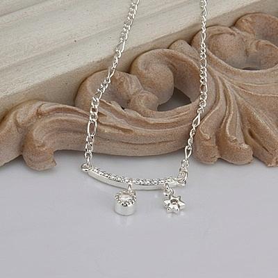 腳鍊 鑲鑽925純銀銀飾-美六角星生日情人節禮物女飾品73ci4【時尚巴黎】