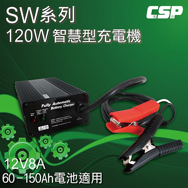 SW系列12V8A充電器(電動腳踏車專用) 鋰鐵電池/鉛酸電池 適用 (120W)
