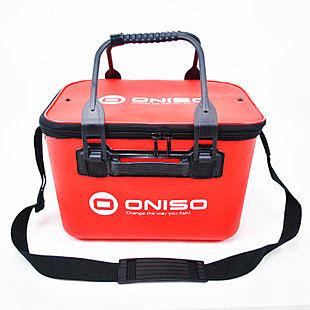 紅色一體硬質EVA魚桶 打餌桶 36X25X25cm箱子