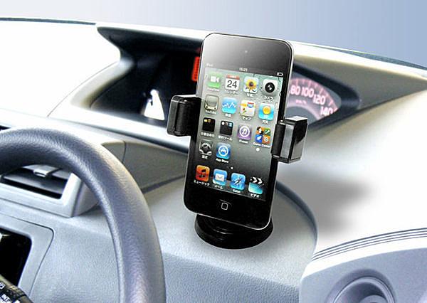 車之嚴選 cars_go 汽車用品【EC-126】日本 SEIKO 360°回轉 手機架 行動電話架 車架 支架