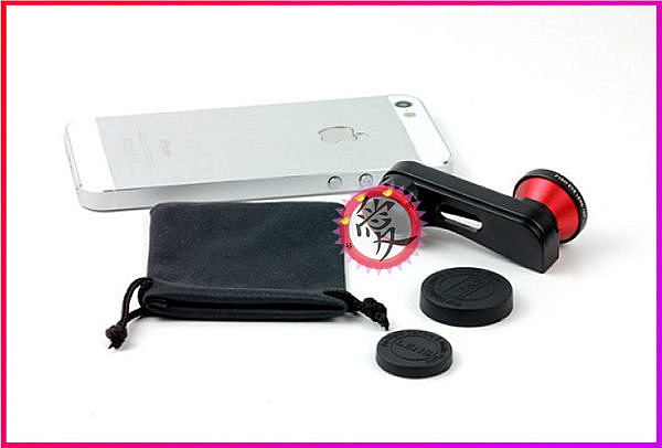 【Love Shop】iPhone5魚眼、微距、廣角三合一手機影鏡頭 手機鏡頭/擴充鏡頭/外加鏡頭