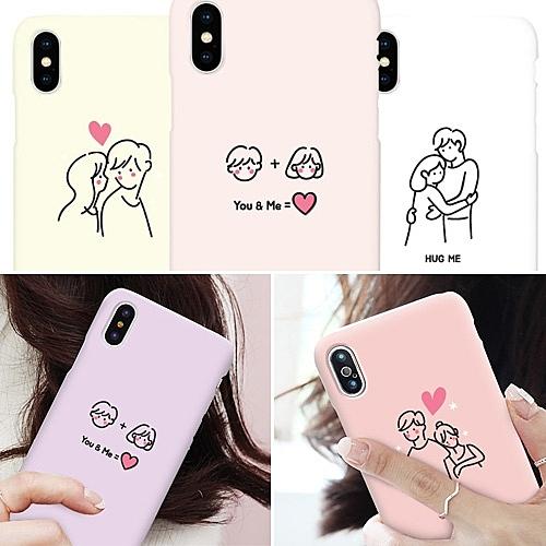 韓國 情侶插畫 硬殼 手機殼│S8 S9 S10 S10E S20 Ultra Note8 Note9 Note10│z8826