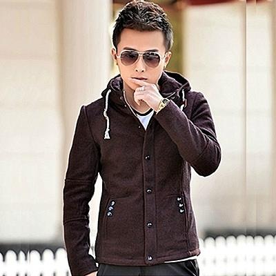 毛呢外套-修身顯瘦韓版紳士燕尾短款男大衣3色72e46[巴黎精品]