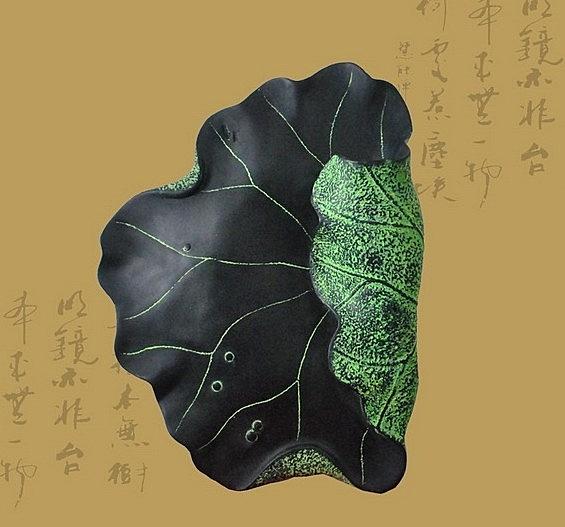 【協貿國際】中式小清新臥室壁飾花插-荷塘初夏