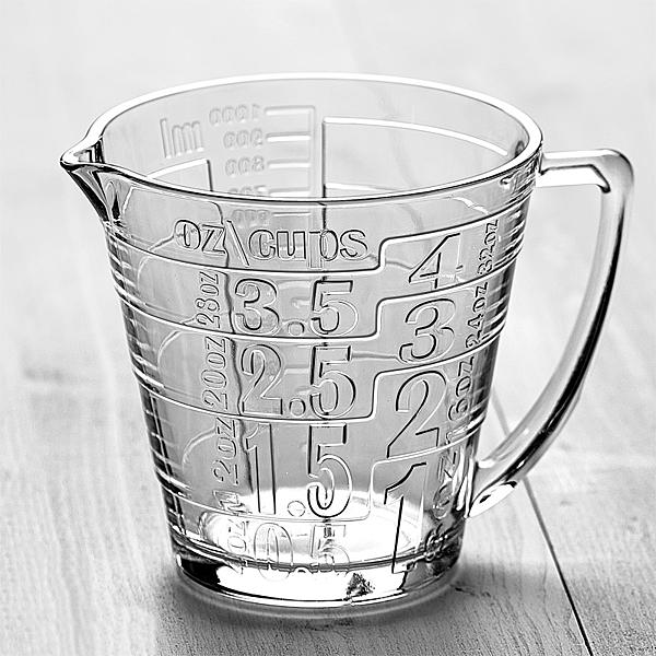 BreadLeaf 1000cc耐熱強化玻璃帶刻度大量杯【B074】打發奶油 透明玻璃量杯 微波爐牛奶杯 蛋液杯