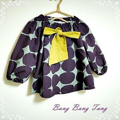 ☆棒棒糖童裝☆韓國童裝 普普風蝴蝶結洋裝
