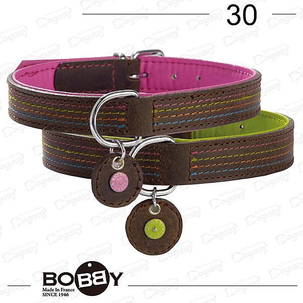 狗日子《Bobby》法式優雅項圈 簡約線條 描繪優雅情調 30cm-桃、綠