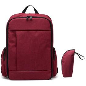 旅行多機能マザーミイラママベビーバッグ用の大容量マタニティバックパックおむつおむつバックパック、レッド