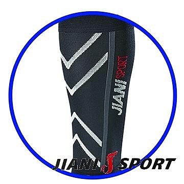 [JIANI SPORT]JS11(黑灰)運動壓力小腿套/協會指定MST檢驗款//登山/慢跑/超馬/自行車/三鐵/球類/各類運動