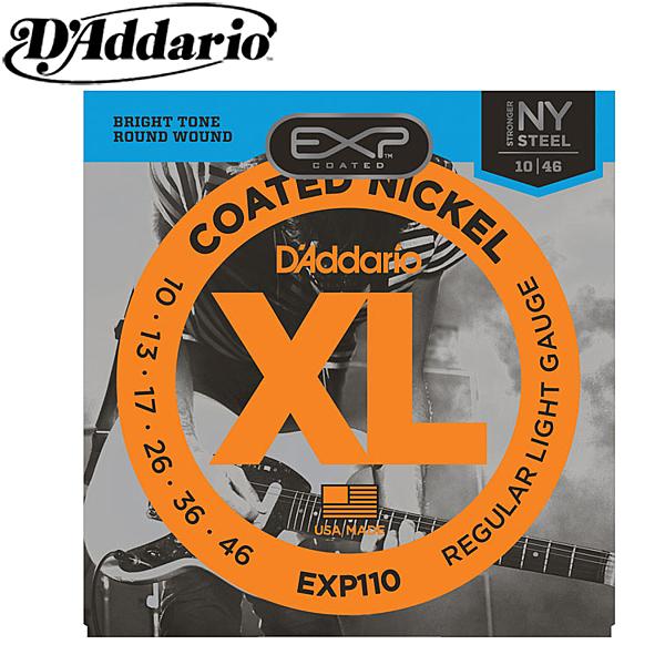 小叮噹的店- 電吉他弦 EXP110 (10-46) D Addario 鍍膜 高碳鋼 套弦