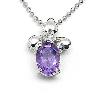 S925 天然紫水晶 吊墜