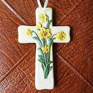 十字架 掛板 花園庭院裝飾 水仙花