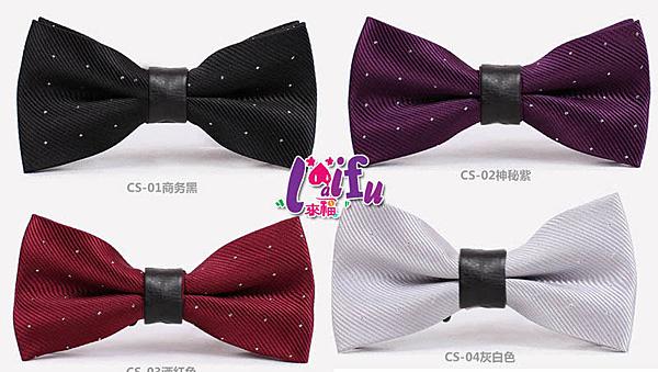 得來福,K547領結中皮質點點銀絲結婚領結禮服糾糾新郎領結,售價180元