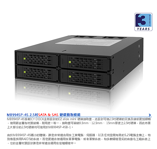 ICY DOCK MB994SP-4S