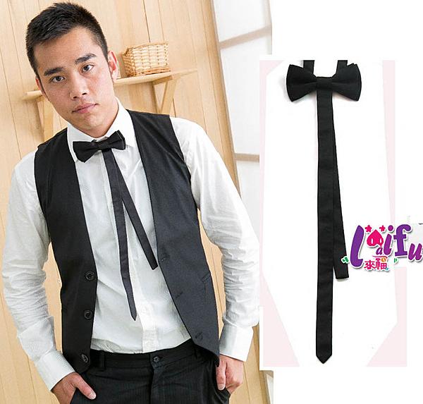 來福,k48長款雙層領結糾糾領結雙層晏會表演搭西裝領帶,售價150元