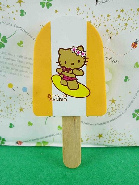【震撼精品百貨】Hello Kitty 凱蒂貓~冰棒造型橡皮擦-橘夏天